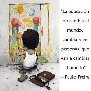 la educacion no cambia al mundo