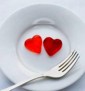 plato con amor